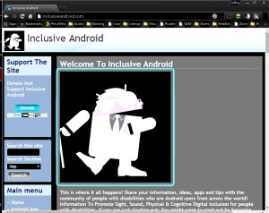Screenshot of a website in Chrome with the Invert feature turned on